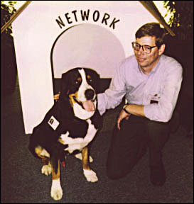 The author with Network, the Sun Microsystems mascot